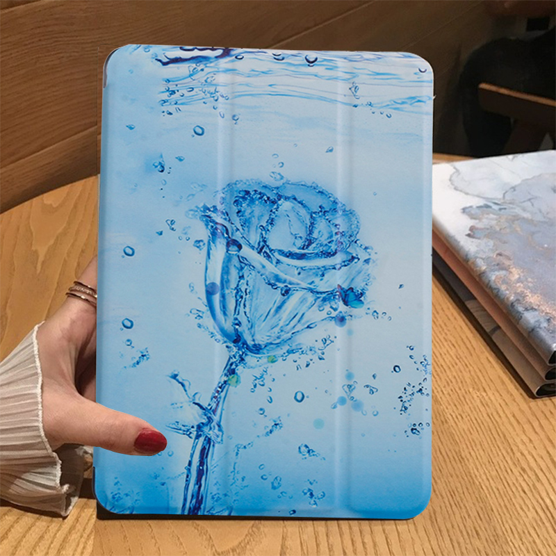 Ice rose White Tablet Case For Apple iPad 10 2 2019 iPad 7 7th Generation A2200 A2198 A2232 A2197