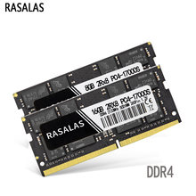 Rasalas DDR4 RAM GB 8 4GB GB PC3-10600S 16 2133 2400 2666Mhz NO-ECC SO-DIMM 1,2V Notebook 260Pin Memória Portátil Sodimm