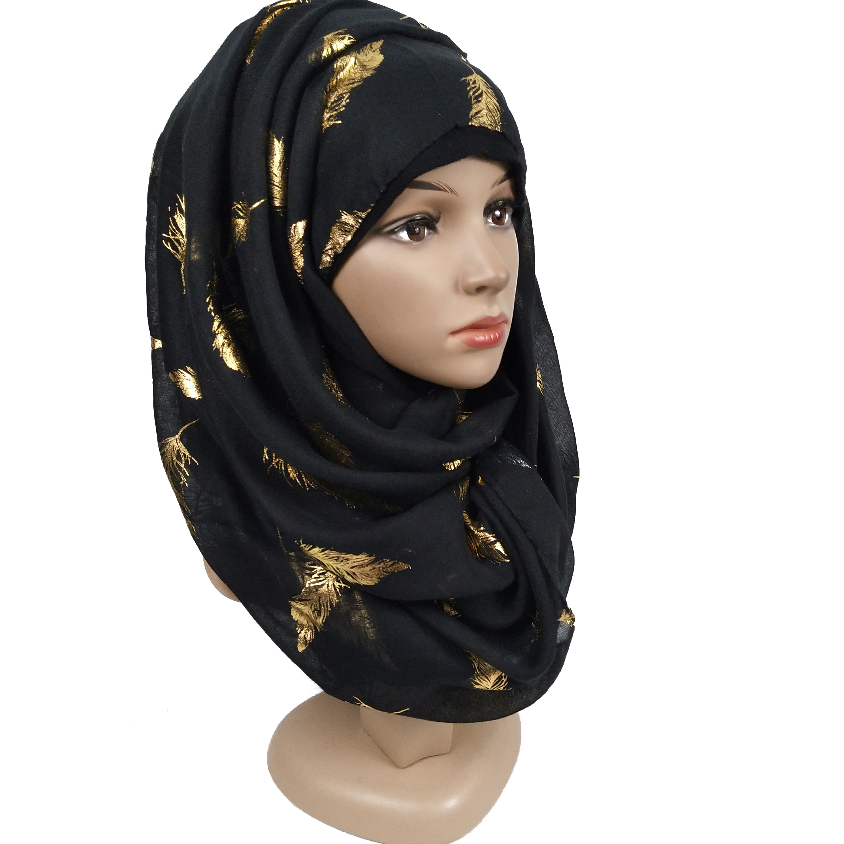 D93 10pcs High quality shinny sleeves scarf/scarf flower cotton hijab women shawl lady muslim headband wrap can choose colors