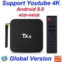 TX6 Allwinner H6 4GB 32GB 4GB 64GB Android 9.0 tv box Support 4K Double WiFi Youtube Smart TV Box PK Tanix TX6 X96mini