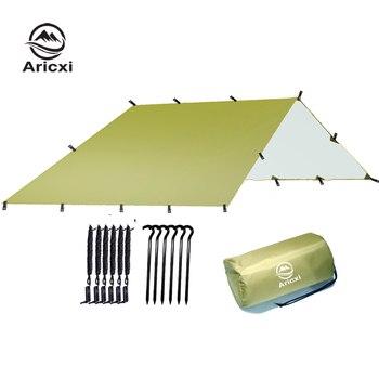 Ultralight Tarp Outdoor Camping Survival Sun Shelter Shade Awning Silver Coating Pergola Waterproof Beach Tent 1