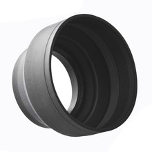 Hot AMS-58mm 3 In 1 Rubber Zonnekap Voor canon nikon D3100 3200 D3300(China)