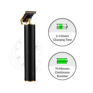 Image 4 - Tondeuse à cheveux Rechargeable USB sans fil barbier sculpture tondeuse à cheveux grande puissance à faible bruit t outliner coupe de cheveux pour enfants adultes