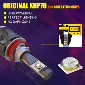 Image 4 - الأصلي XHP70.2 H7 H11 Led Lampada لمبة H4 H1 H8 Led المصباح مصباح Canbus لا خطأ Hb3 9005 9006 LED كشافات الضباب ضوء 6000K