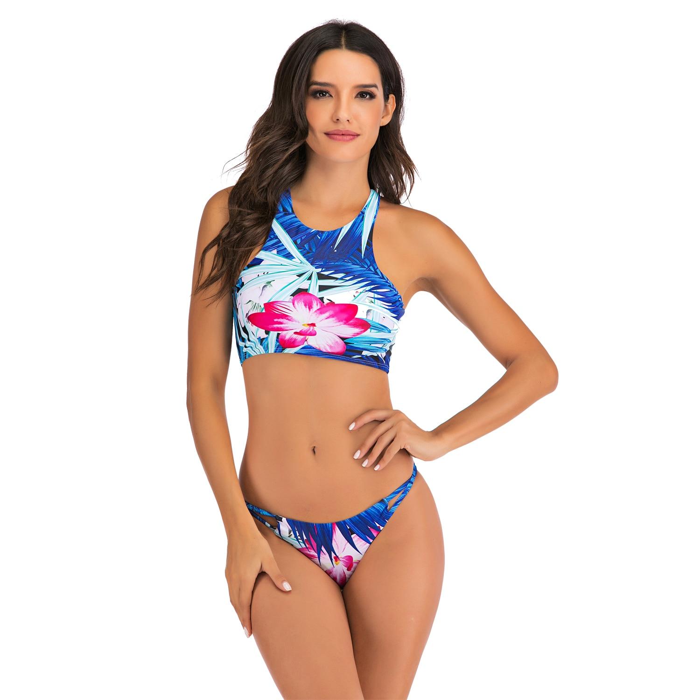 Sexy Bikinis Swimsuit High Waist bikini 2020 Bathing Suit Women Plus Size Swimwear Push Up Bikini Set Vintage Beach Wear Biquini