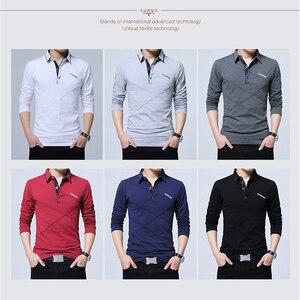 Image 3 - BROWON Offre Spéciale T shirt hommes T shirt Long à rayures rabattues T shirt design coupe mince décontracté coton T shirt mâle grande taille