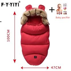 Baby Sleeping Bag Stroller Sleeping Bag Spring Winter Warm Sleepsacks Robe 0-24 Months Infant Thick Warm Envelopes Pacifier Gift