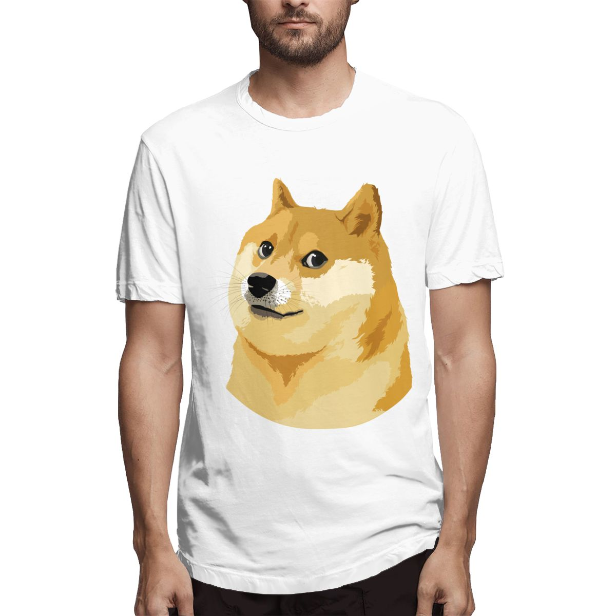 Men t-shirt High quality men short sleeve print Shiba Inu <font><b>Dog</b></font> Clip <font><b>Art</b></font> men T shirt casual o-neck mens tee shirts o-neck <font><b>tshirt</b></font> image