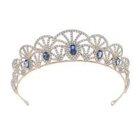 Hg966 New Products Bride European Style Retro Zircon Queen Crown Bride Marriage Headdress Hair Accessories Studio Wedding Dress