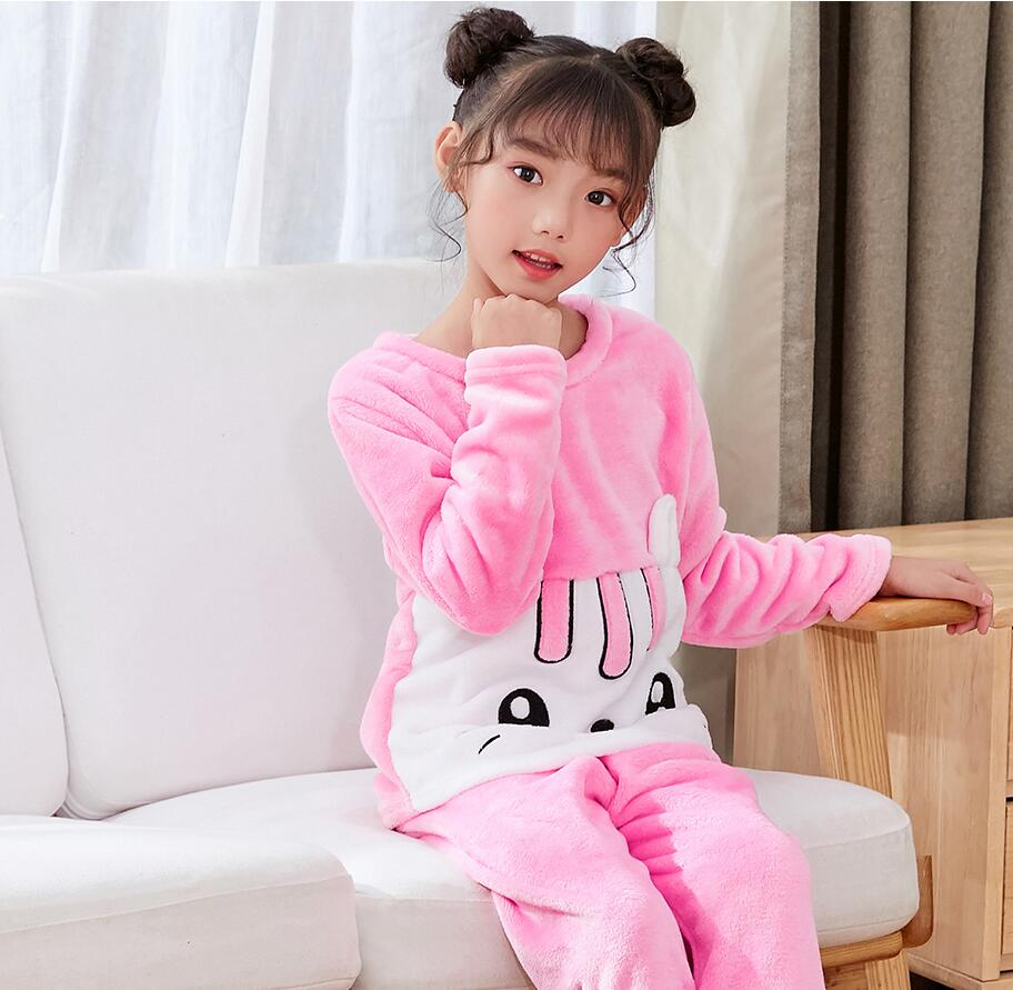 Новинка года; зимняя детская флисовая Пижама; теплая фланелевая одежда для сна; домашняя одежда для девочек из кораллового флиса; детская пижама; домашняя одежда; Пижама для мальчиков