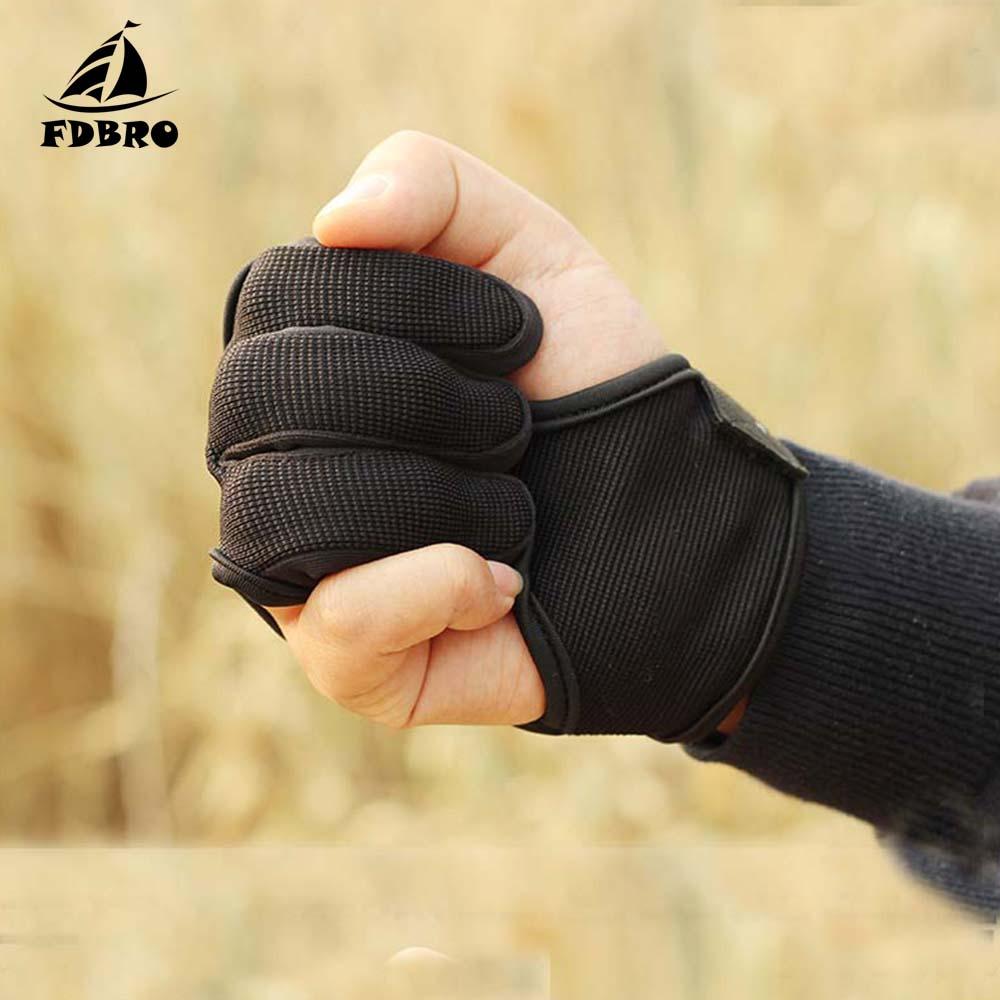 FDBRO перчатки для стрельбы из лука 3 пальца кожаные черные высокие эластичные перчатки для защиты рук лук и Стрела стрельба из лука Охота Стре...