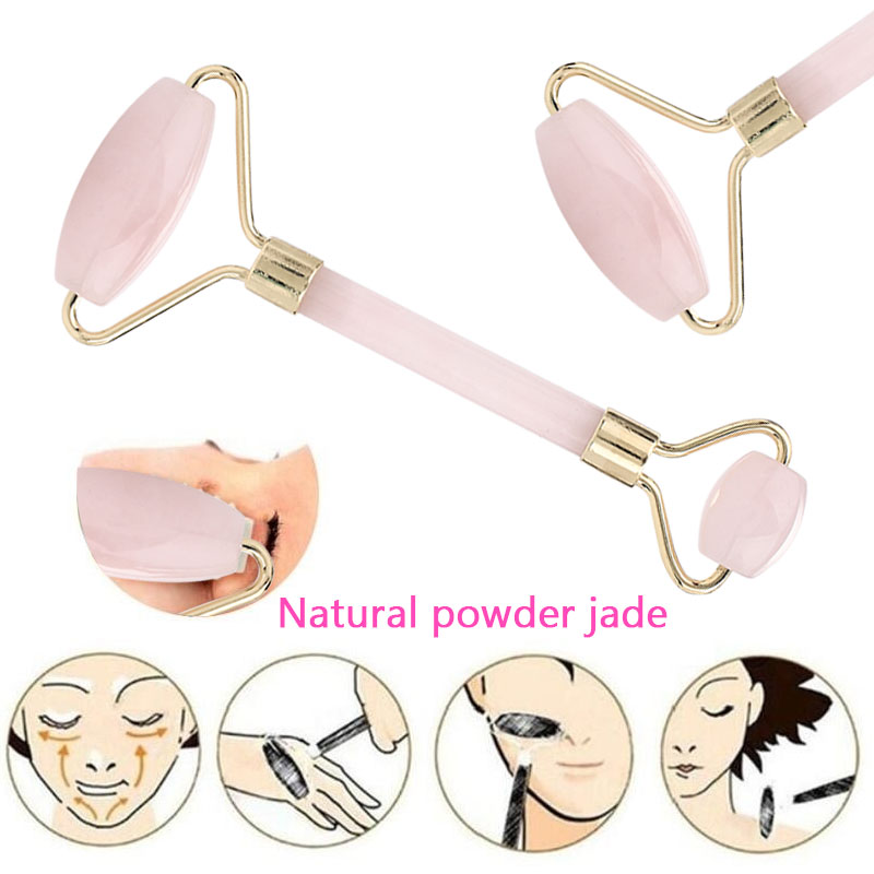 Anti-Aging Anti Wrinkle Body Jade Massager Roller Facelift Pink Jade Roller Fashion Cute Natural Beauty Women Tool