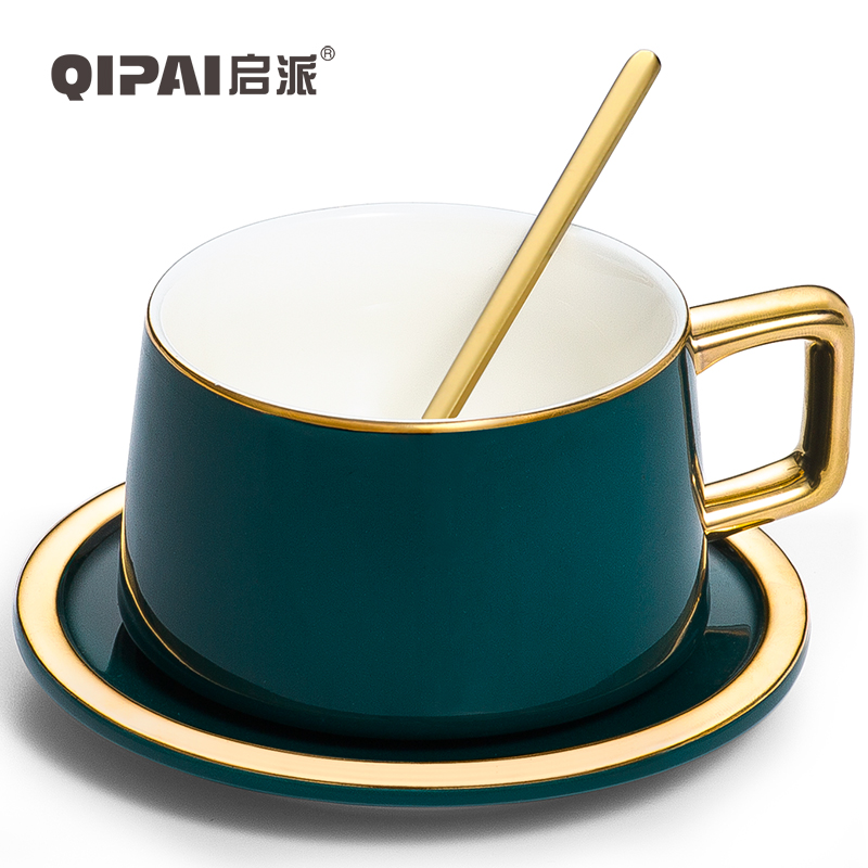 Nordic Creative <font><b>Coffee</b></font> <font><b>Cup</b></font> <font><b>Porcelain</b></font> Stylish Tea <font><b>Cups</b></font> with Handle Spoon Office Ceramica Tazas Desayuno Home Drinkware LL50CC image