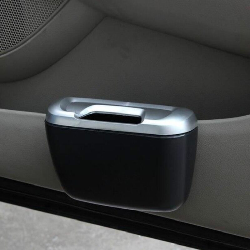 Car Organizer Mini Car Auto Rubbish Dustbin Trash Can Garbage Dust Case Box Car Storage Case Car Trash Bin Car Accessories