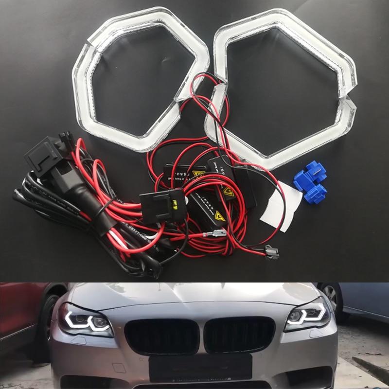 4pcs led angulo olhos luz do farol do carro para bmw m2 iconico m3 m4 e90