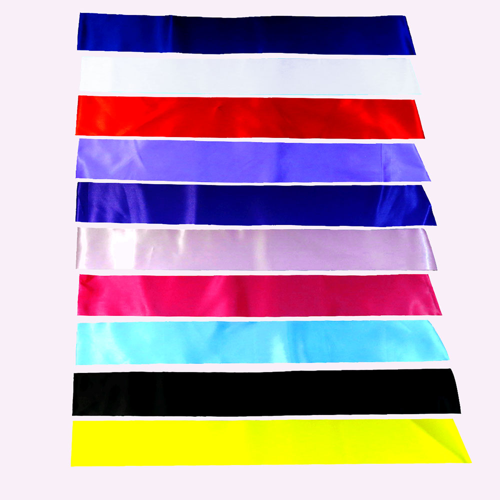 10pcs 많이 빈 리본 일반 새시 10 색 패브릭 레드 블루 화이트 등 새틴 웨딩 생일 베이비 샤워 DIY 디자인