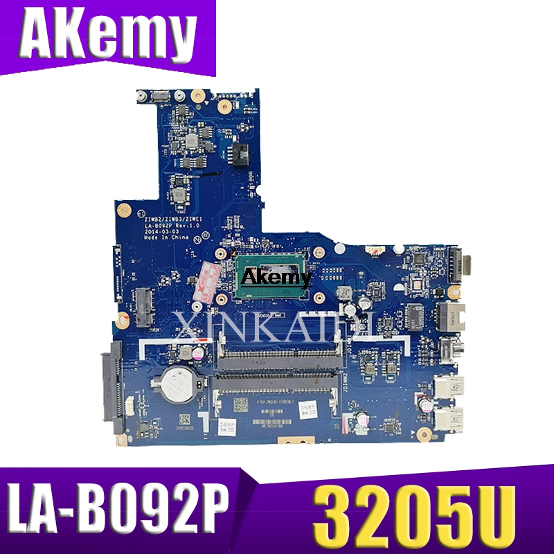 ZIWB2/ZIWB3/ZIWE1 LA-B092P Rev:3.0 motherboard For <font><b>Lenovo</b></font> <font><b>B50</b></font>-<font><b>80</b></font> Laptop motherboard ( For intel 3205U CPU ) 100% tested image