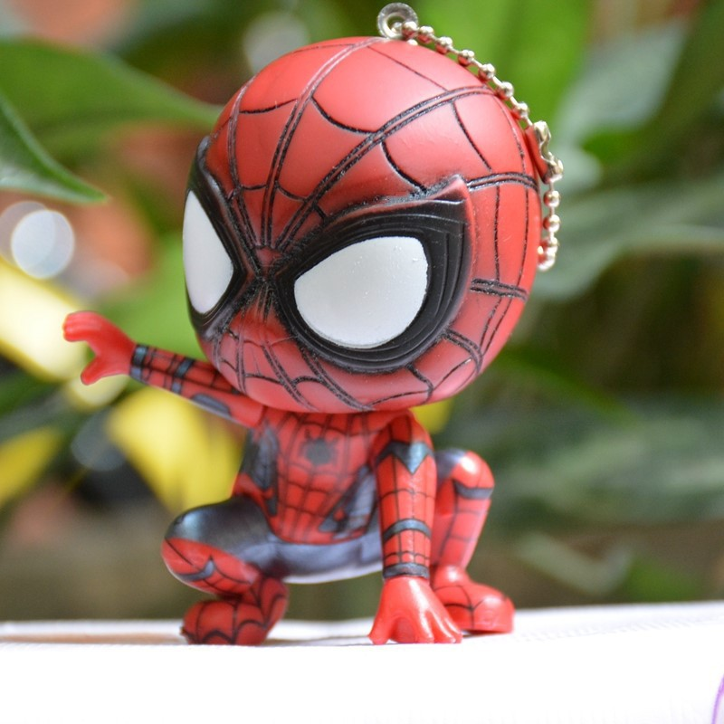 Fashionable Movie Spider Keychain Man  Hero Homecoming Car Key Ring Pendant Spiderman Keychains Toys Women Men JewelryTrinket