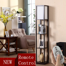 Nordic Design Led Classic Wooden Floor Lamp Standing Light with Three Color Remote Control Dimmable Touch Switch for Living Room(China)