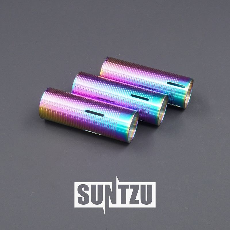 Gear Box Parts Stainless Steel Heat Dissipation Baked Blue Colorful 75%/65%/50% Cylinder For Water Gel Ball Blaster AEG Airsoft