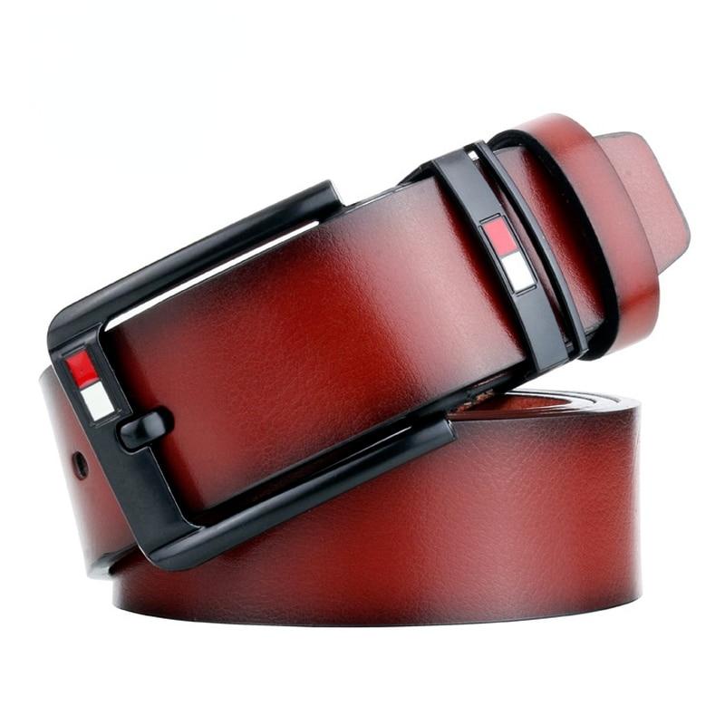 Male Ceinture Homme Men's Belt Real Leather For Jeans Luxury Strap Pin Buckle Waist Vintage Large Size Cinturones