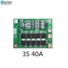 BMS 3S 40A BMS плата 11,1 В 12,6 в 18650 литиевая батарея Защитная плата с выравниванием привода сверла 40 А Ток