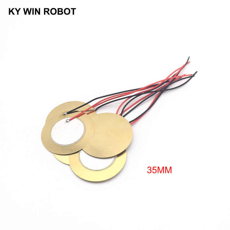 10 Pcs Piezoelectric Piezo Ceramic Wafer Plate Dia 35mm For Buzzer Loudspeaker