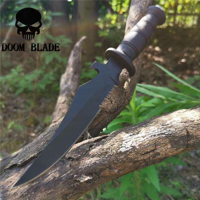 Tactical Serrated Short Knife Self defense Portable Multi function Knives Good Hunting Camping Survival Outdoor Everyday Carry