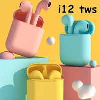 i12 tws Bluetooth Earphones  Air Earbuds Handsfree with charging box in ear Headset wireless 3D stereo sound for all Smart Phone