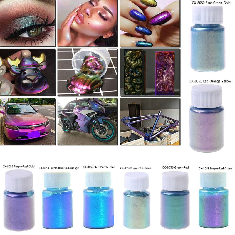 Mirror Chameleons  Resin Pigment Pearlescent Epoxy Resin Magic Discolor Powder N58F
