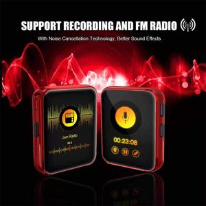 Image 4 - MP3 נגן עם קליפ נייד MP3 נגן עם Bluetooth 4.2 מוסיקה נגן עם FM, מלא מגע מסך מיני MP3 נגן עבור ספורט