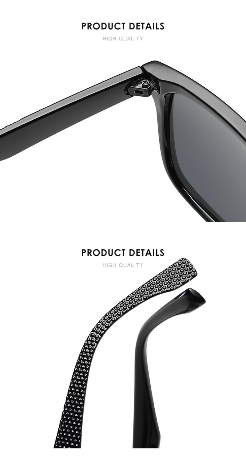 Γυαλιά ηλίου με πολωτικούς φακούς με μεγάλο σκελετό και προστασία uv400 msow