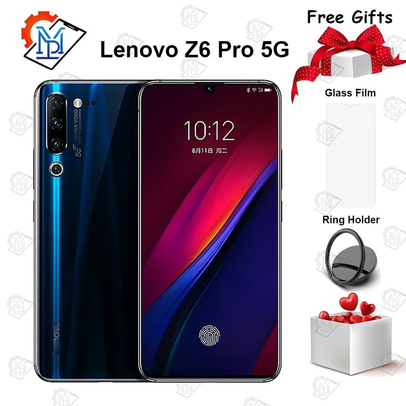 Мобильный телефон lenovo Z6 Pro 5G, 6,39 дюймов, Super AMOLED, 8 ГБ + 256 ГБ, Восьмиядерный процессор Snapdragon 855, Android 9,0, 48мп, четырехъядерный смартфон