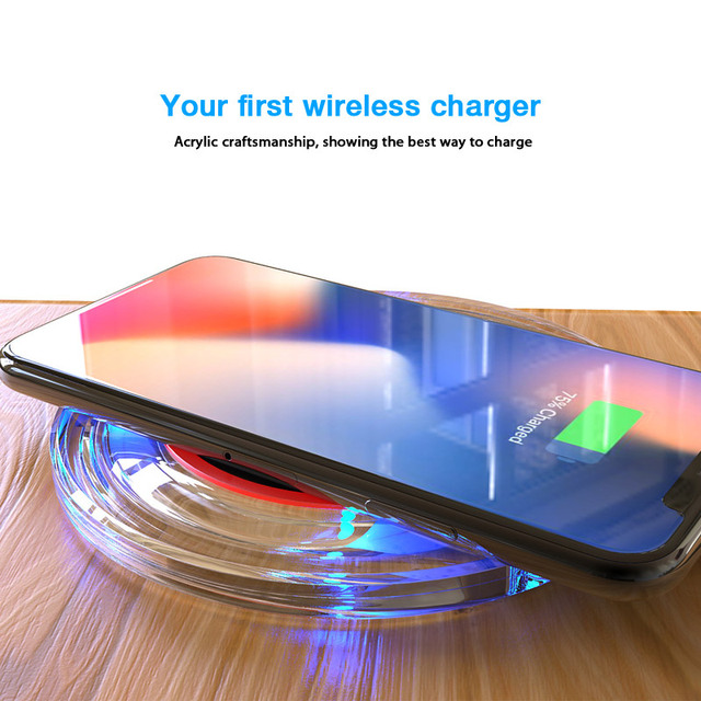 Suntaiho Qi Wireless Charger 5W Phone Charger Wireless Fast Charging Dock Cradle Charger for iPhone samsung xiaomi huawei P30 5