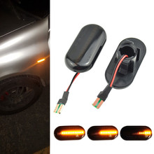 Dynamic Side Marker LED Turn Signal Light For Dacia Duster Dokker Renault KANGOO Megane TWINGO CLIO I MASTER II ESPACE III for renault megane iii 3 door sport tourer scoe 2x12smd led front parking light front side marker light source car styling