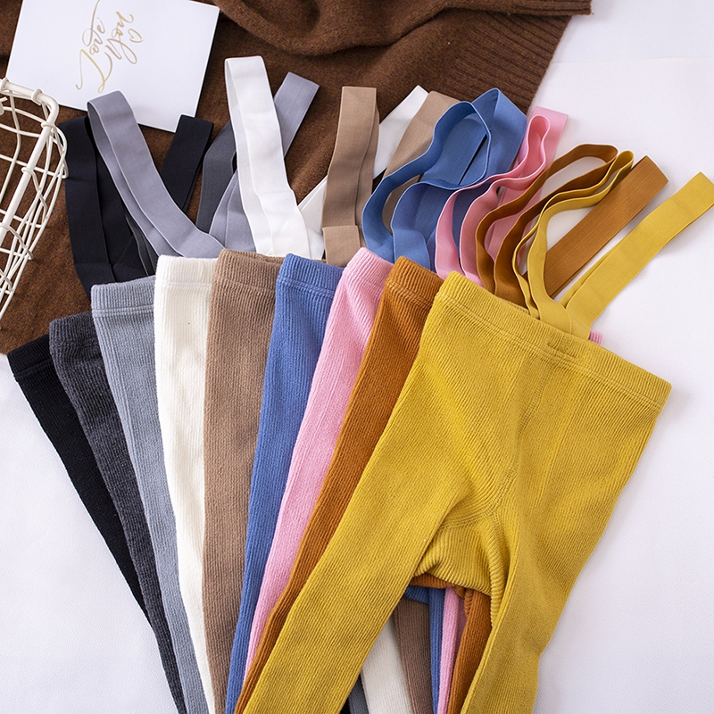 Cotton Baby Pantyhose Newborn Baby Pants High Waist Cross Straped Baby Leggings Baby Boys Girls Pants