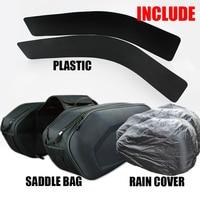 2018 SA212 Motorcycle Waterproof Saddle bags Racing Moto Helmet Bags Travel Luggage saddlebags +one pair rain cover and plastics