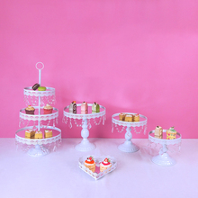 Get more info on the Tobs White Cake Stand Set Mirror Crystals Decor Supplies Party  Wedding Dessert Display Cupcake Tower Stand Decor Tray Metal