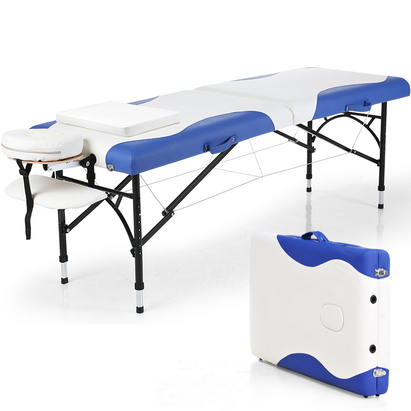 Portable Massage Table Tuina Bed Physiotherapy Beauty Bed Home SPA Folding Portable Body Head Neck Back Waist Hips Legs Feet