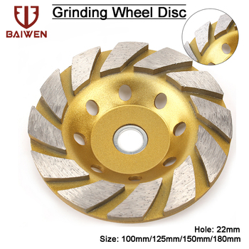 100/125/150/180mm Diamond Segment Grinding Wheel Cup Cutting Disc for Marble Concrete Masonry Stone Diamond Grinding Wheel 5 inch 125mm single row cup wheel for concrete grinding disc grinding wheel bore 22 23mm