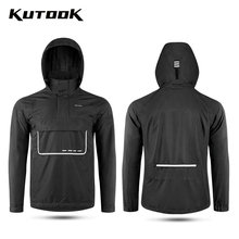 Pullover Raincoat Waterproof Kutook-Man Hooded Cycling Reflective Hiking Breathable Outdoor