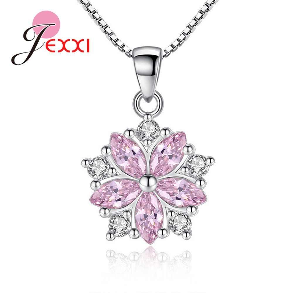 Marque de luxe 925 en argent Sterling zircon cubique pendentifs colliers pour femmes fiançailles anniversaire cadeaux fleur étoile bijoux