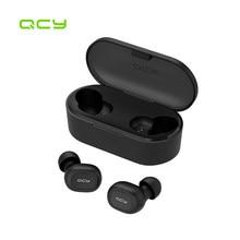 QCY – écouteurs sans fil Bluetooth V5.0 TWS T1C Power, oreillettes de sport 3D stéréo avec double Microphone
