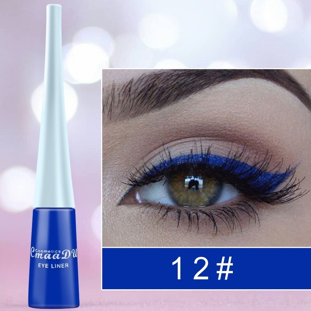 12-color matte Cat eye Makeup Waterproof Neon Colorful Liquid Eyeliner Pen Make Up Comestics Long-lasting Liner Pencil Makeup 3