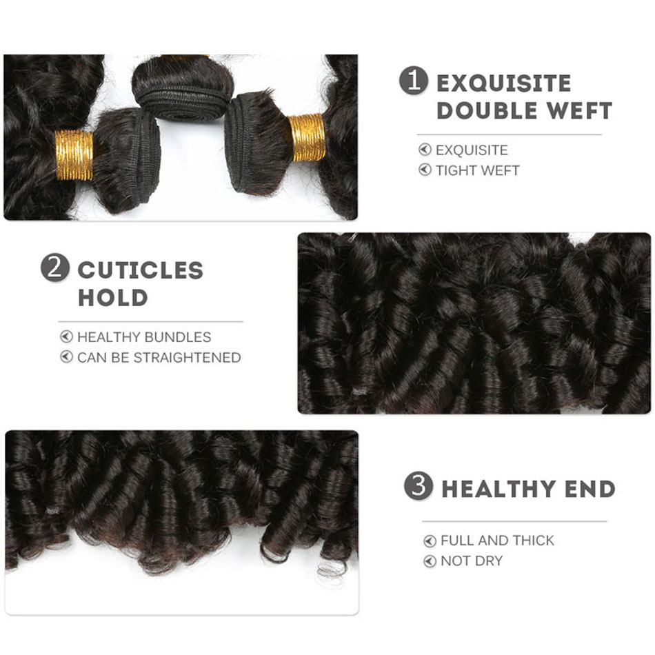 bouncy  curly human hair bundles 21