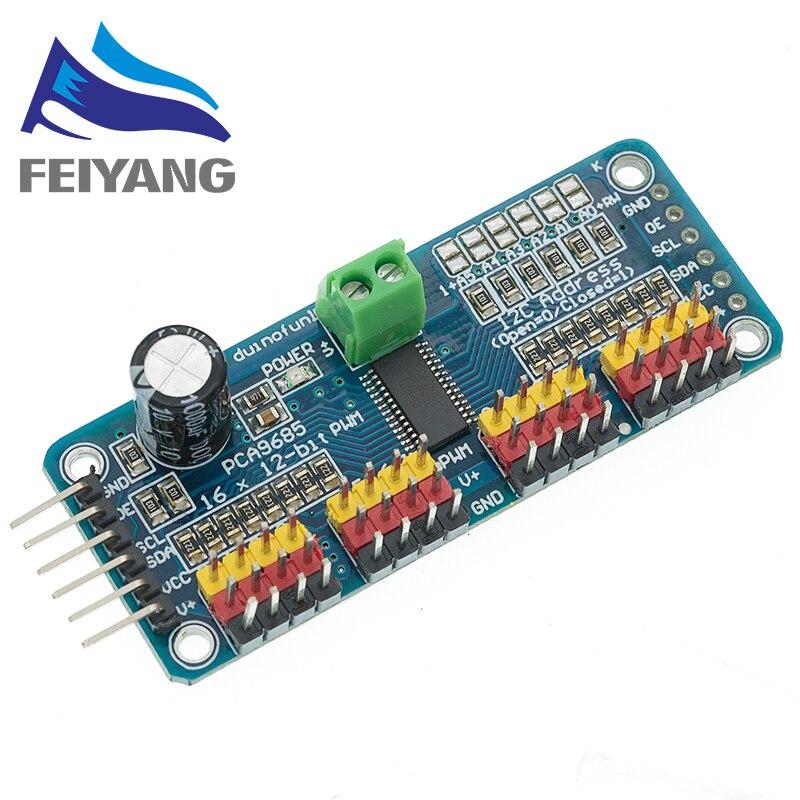 10 sztuk 16 kanałowy 12-bit PWM/serwo Driver-I2C interfejs PCA9685 moduł Raspberry pi moduł obudowy serwo tarcza tarcza