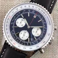 Top Luxury Brand Designer Chronograph 1884 Quartz Mens Stainless Steel Watch Sports Mens Stopwatch Watches Aaa Wristwatches