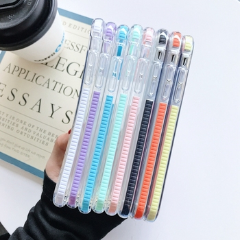 Luxury Transparent Shockproof Phone Case For iPhone 11 Pro Max X XR Xs Max 6 6s 7 8 Plus SE 2020 Soft TPU Clear Back Cover Etui glitter powder holder phone case for iphone 11 x xr xs max 6 6s 7 8 plus transparent soft tpu wrist strap shockproof back cover