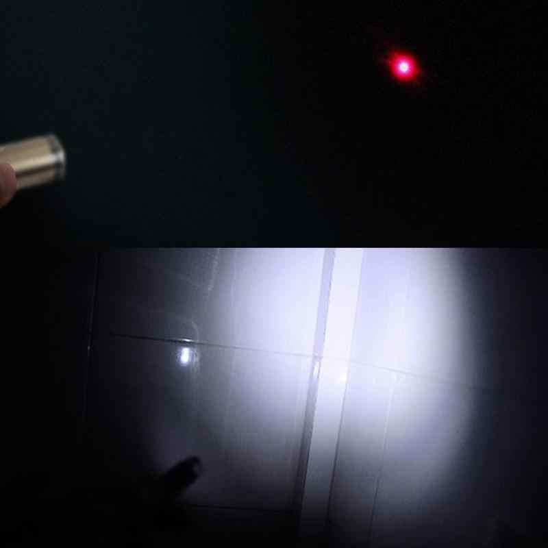 MeterMall multifuncional LED linterna luz bolígrafo llavero colgante regalo