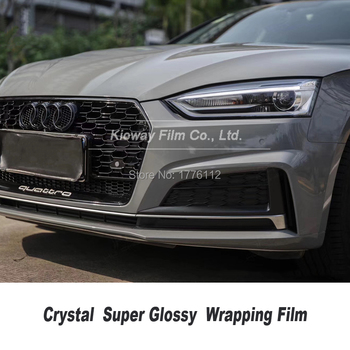 Highest quality Nardo gray Vinyl Wrapping film glossy grey Wrapping Foil wrap folie Bubble Free quality Warranty 5m/10m/18m image